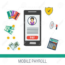 Vector Concept Easy Mobile Online Payroll Operation Smartphone