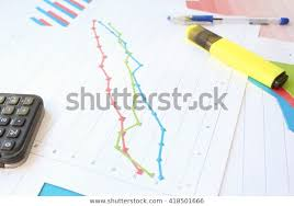 Growth Chart Markers Serious Growth Chart Markers Stock Photo Edit Now 418501666