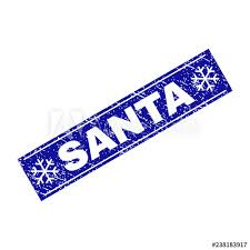 Santa Watermark Grunge Rectangle Santa Watermark With Snowflakes And Lines