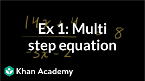 ex 1 multi step equation