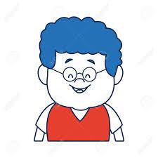 顔正面半分髪型ベクトル イラスト男の子ボディを似顔絵しますの