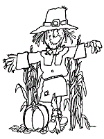 Small Picture Scarecrow Coloring Pages Autumn