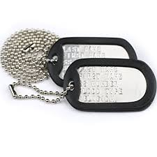 Dog Tag Vending Machine Locations Mesmerizing Amazon Custom US Military Dog Tags Includes Two Personalized