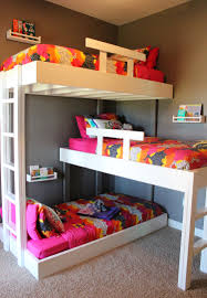 Kids Bedroom Shelving Triple Bunk Beds With Plans Triple Bunk Beds Bunk Bed And