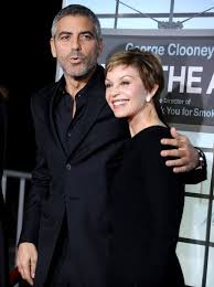George Clooney and Nina Bruce - Mummy's Boys: Stars Who Adore Their Mothers  - Heart