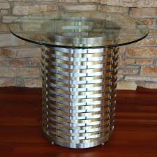 round metal table base metal table base for round glass top