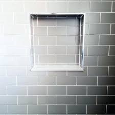 incredible design tile shower niche nook grey subway ideas shelf height from floor