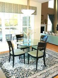 rug under dining table size round rug under round table dining room table rug size medium