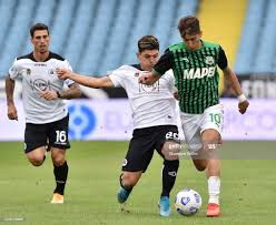 Ardila Kevin Andres Agudelo of Spezia Calcio and Filip Duricic of US... News  Photo - Getty Images