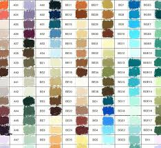 Unison Hand Painted Colour Chart Paint Color Chart Color