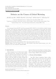 debates on the causes of global warming pdf available