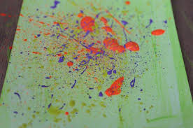 the artistic way to splatter paint