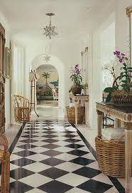 So Many Black And White Checkered Floors Show Up In Foyers, Kitchens, Or In  Bathrooms. Itu0027s Refreshing To See It Carried To Other Parts Of The House As  Seen ...