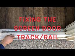 sliding screen door rail track