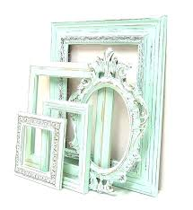 various picture frames shabby chic pastel mint green frame set ornate vintage wedding white 8x10