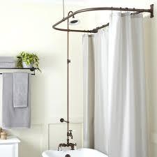 clawfoot tub shower faucet tub shower faucet elegant rim mount leg tub shower kit s d clawfoot
