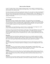 How Write A Resume Resume Templates
