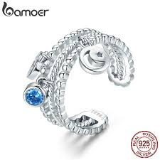 BAMOER <b>High Quality Authentic 925</b> Sterling Silver Double Layer ...