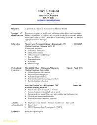 Resume For Medical Assistant Objective Free Download Medical Resume
