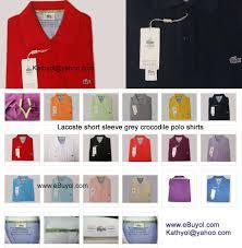 Lacoste Polo Shirt Color Chart Lacoste Grey Crocodile Edition Polo Shirts Mens Grey Croc