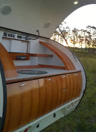 Camper Trailer Kitchen Discover Pint Size Luxury In This Teardrop Camper A Blog By Sunset