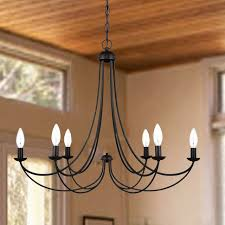 north country 6 candles iron art chandelier farmhouse chandeliers new orleans by phx