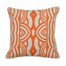 modern orange down pillow  products orange and modern