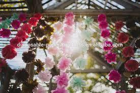 Paper Flower Backdrop Garland Yiwu Factory Wholesale Handmade Tissue Paper Flower Hanging Garland