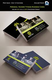 Free Personal Cards Personal Trainer Fitness Business Cards Template Photo