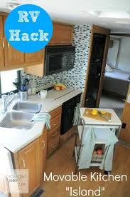 rv for more counter space get a movable kitchen island organizingmadefun