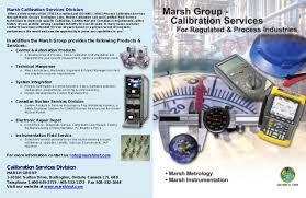 Calibration Technicians Marsh Calibration Brochure 2016