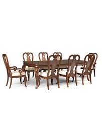 queen anne dining room table. bordeaux 9piece dining room furniture set created for macyu0027s table queen anne