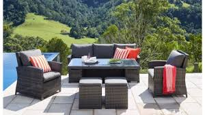 outdoor table and chairs. Malta 6-Piece Outdoor LoungeDining Rectangular Setting Table And Chairs R