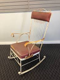 vintage wrought iron rocking chair
