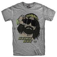 <b>New</b> Macho Man Logo <b>Short Sleeve Men's</b> Black T-Shirt Size S to 5XL