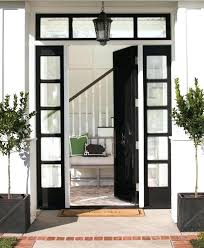 black front door designs for an elegant looking living space transom windows circular paneled 5 panel