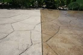 stamped concrete patio cleaning