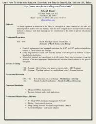 Sample Resume For Campus Selection