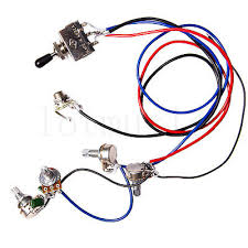 electric guitar wiring harness kit 3 way toggle switch 1 volume 1 strat prewired assembly at Guitar Wiring Harness