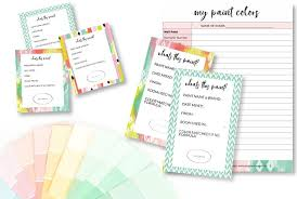 Great idea to keep things organized! Printable Paint Can Labels Paint Colors Record Keeper Kaleidoscope Living Online Shop