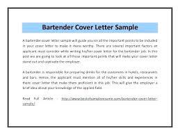 Cover Letter For A Server Cover Letter Server Bartender Zonazoom Com