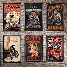 <b>Gun Vintage Tin Sign</b> Bar Pub Home Wall Decor Retro Metal Art ...
