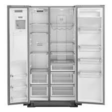 kitchenaid 36 22 7 cu ft counter depth side by side refrigerator with exterior ice and water