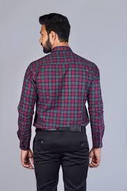 Chex Shirt Design Red Oxford Checks Shirt