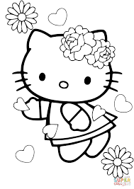 Valentine's Day Hello Kitty coloring page | Free Printable ...