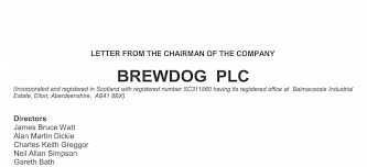 Brewdog Shareholder Letters And Class C Shares Spirited Matters