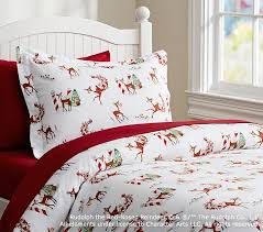 rudolph the red nosed reindeer flannel duvet cover