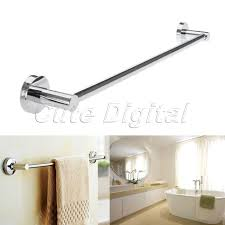 bath towel holder for wall. Stainless Steel Towel Rack Wall-Mounted Bathroom Holders Single Rail Bars Bath Storage Holder For Wall W