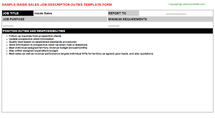 Inside Sales: Free Career Templates Downloads | Job Titles ...