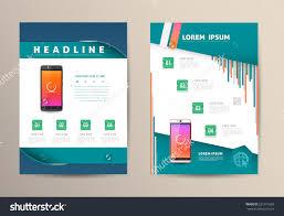 brochure flyer design vector template smartphone stock vector brochure flyer design vector template smartphone vector illustration